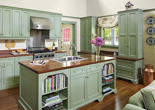 Gabungan Warna Fasad Dicat Untuk Dapur Kecil Dan Besar