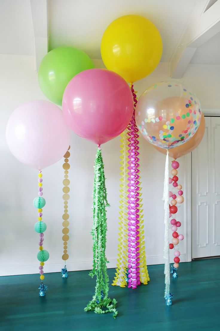 Украшение шарами комнаты