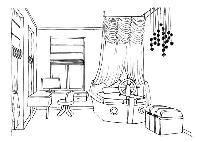 Skim Lukisan Perabot Untuk Kanak Pelajaran Yang Menarik Bagaimana Sebuah Bilik