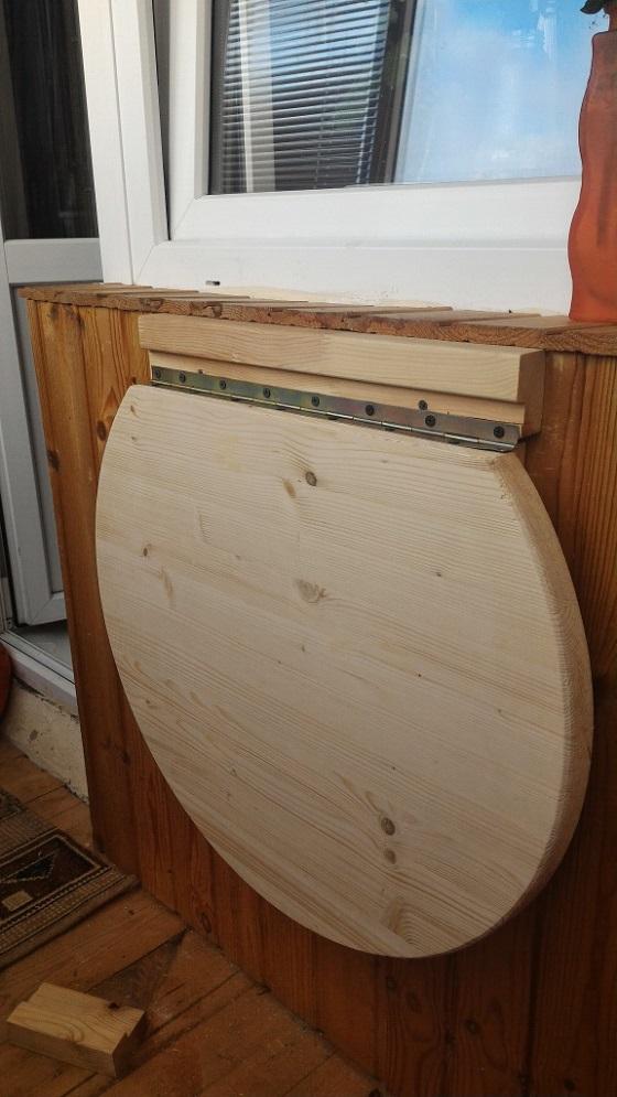 Как сделать стол для балкона своими руками 858