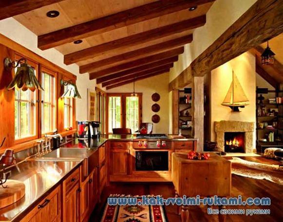 Batu Buatan Untuk Dapur Di Rumah Kayu