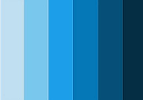 Jadual Gabungan Warna Biru
