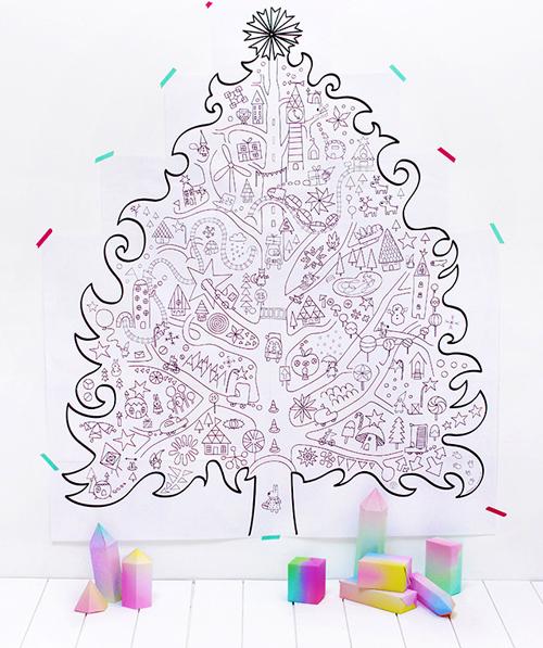 Balıksırtı Boyama Kitabı Dev Boyama Noel Ağacı Boyama Noel Ağacı