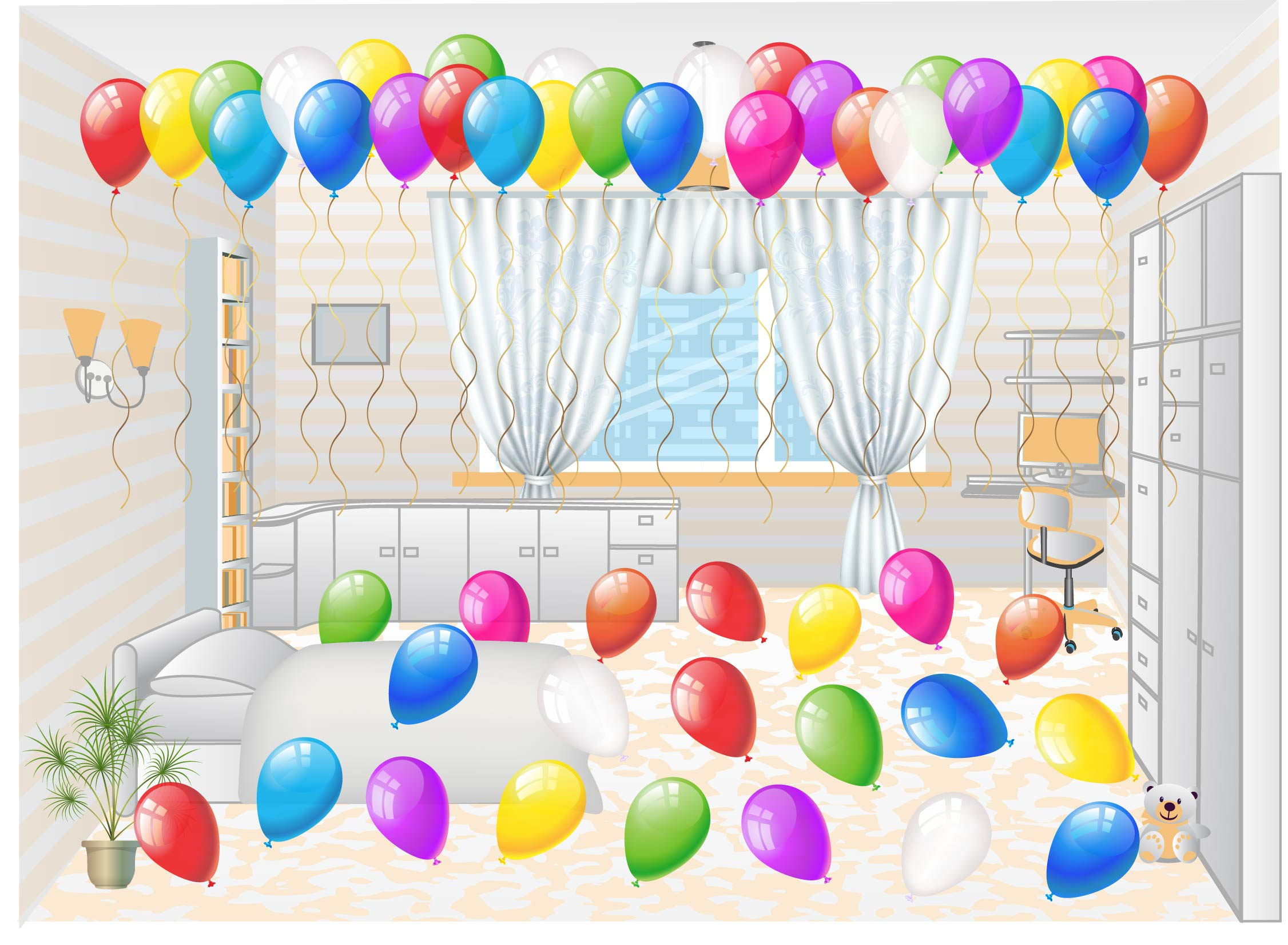 Оформление шарами с днем рождения картинки