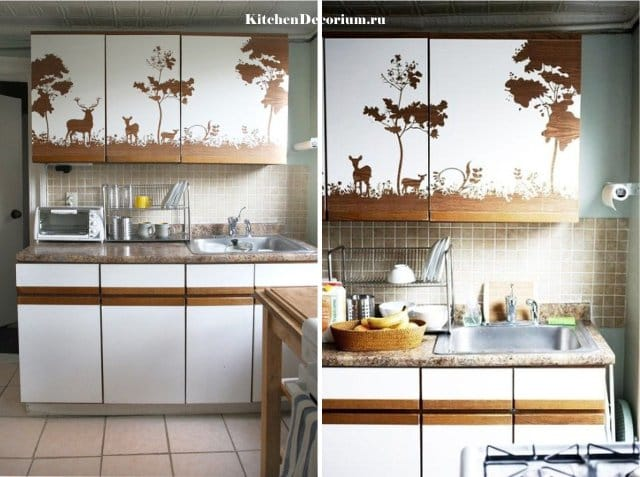 Декор кухонного шкафа своими руками 100