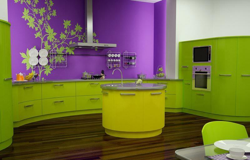 Dalam Ungu Gelap Fungsi Lain Sudah Menjadi Aksen Warna Ia Boleh Dilaksanakan Salah Satu Dinding Ruang Makan Atau Tamu