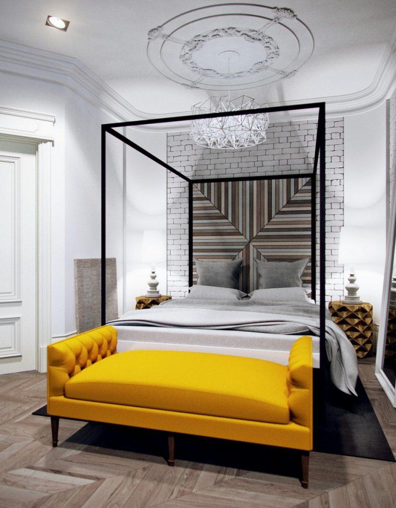 Profesional Dalam Bidang Reka Bentuk Telah Membangunkan Bilik Tidur Yang Baru Di Mana Tidak Ada Tempat Untuk Perabot Besar