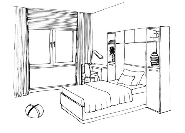 схема рисования мебели для детей увлекательные занятия как
