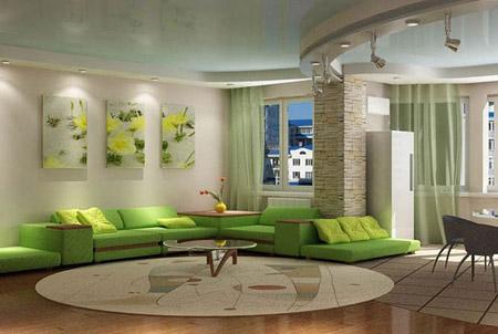 Di Ruang Tamu Kita Perlu Membataskan Diri Kepada Perabot Dan Aksesori Hijau Kerana Warna Yang Digunakan Pesawat Besar Boleh Memberi Ini