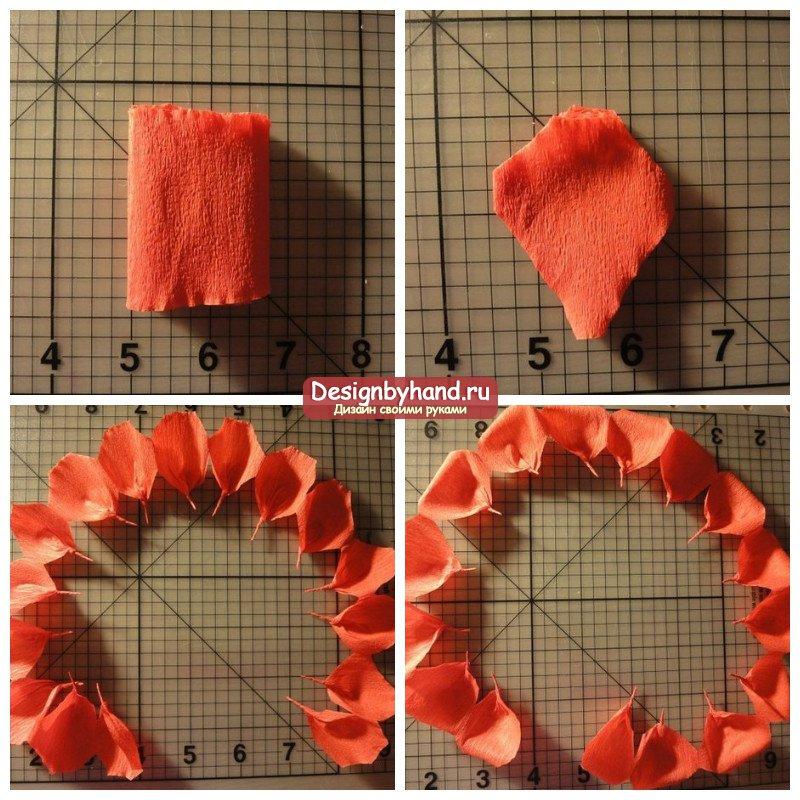 Сделать розы из гофрированной бумаги своими руками пошагово 31