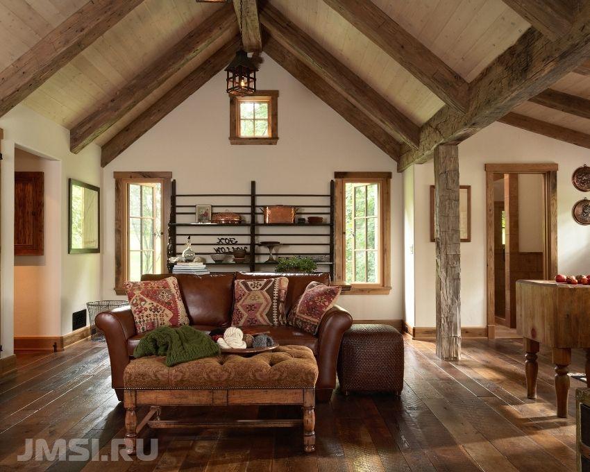 ec3b7d567787 Konštrukcia domov z trámov je interiér miestnosti. Návrh ...