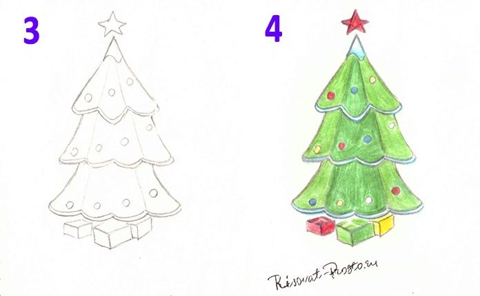 Toplu Ağaç çizimi Bir Noel Ağacı Nasıl çizilir