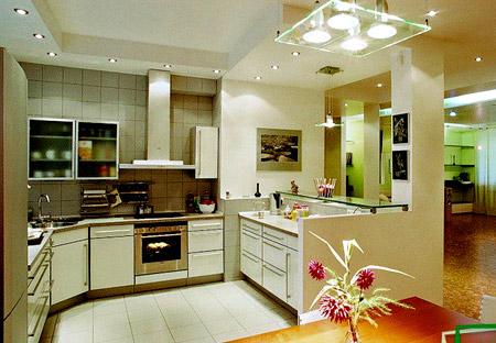 Pemisahan Ruang Dapur Dilakukan Dengan Menggunakan Pelbagai Perabot Sebagai Contoh Anda Boleh Memasang Meja Yang Memisahkan Makan Dari