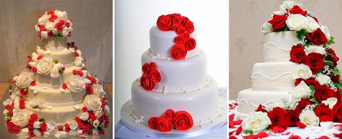 Свадебный букет в красном цвете купить