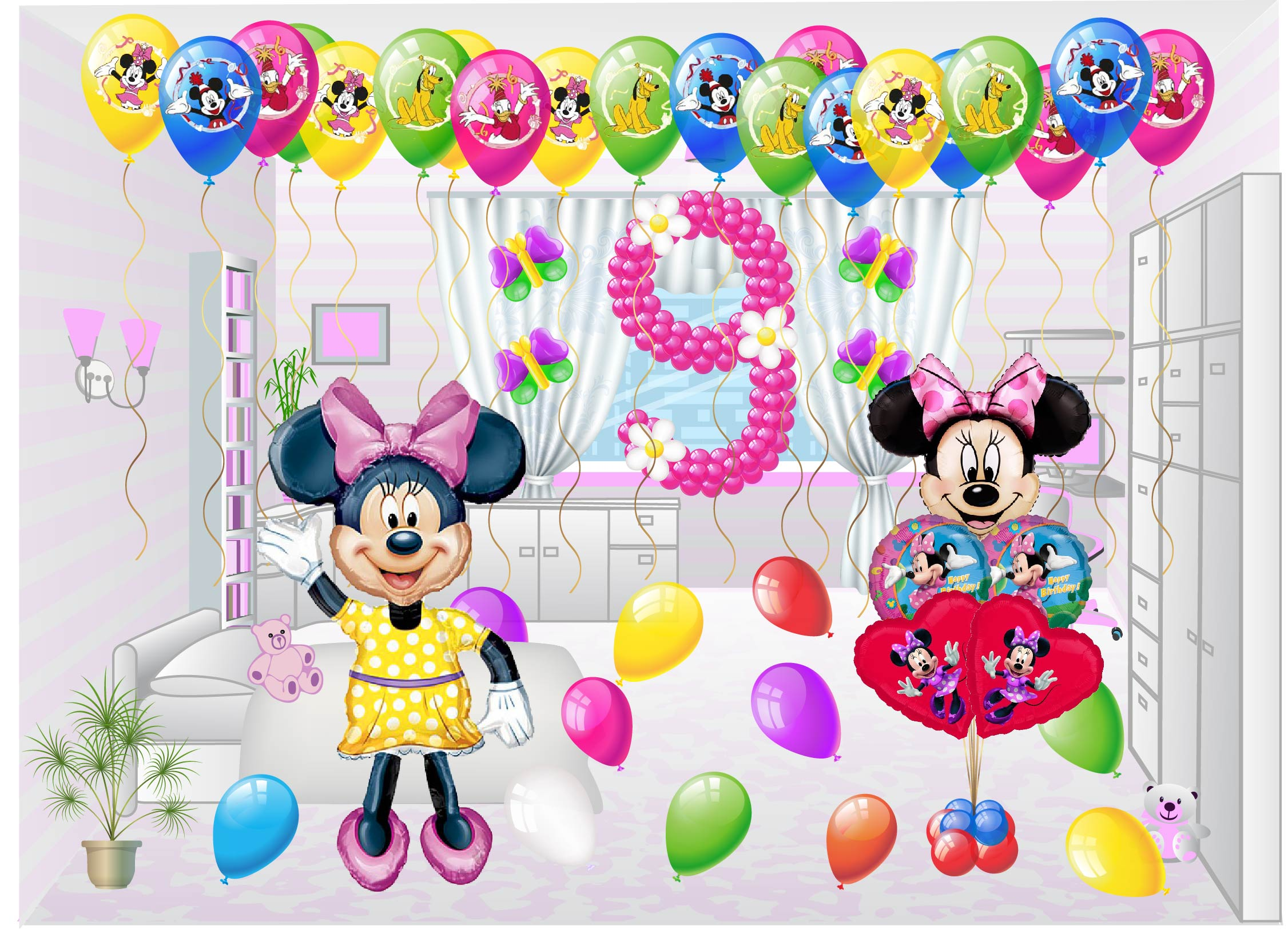 Balon kompozisyonları - hayal gücü gösterin