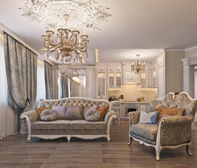 элитный интерьер гостиной в классическом стиле оформление гостиных