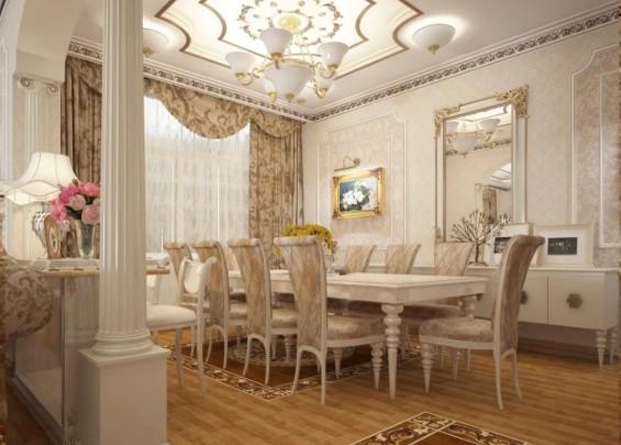 дизайн интерьера в классическом стиле гостиная спальня кухня