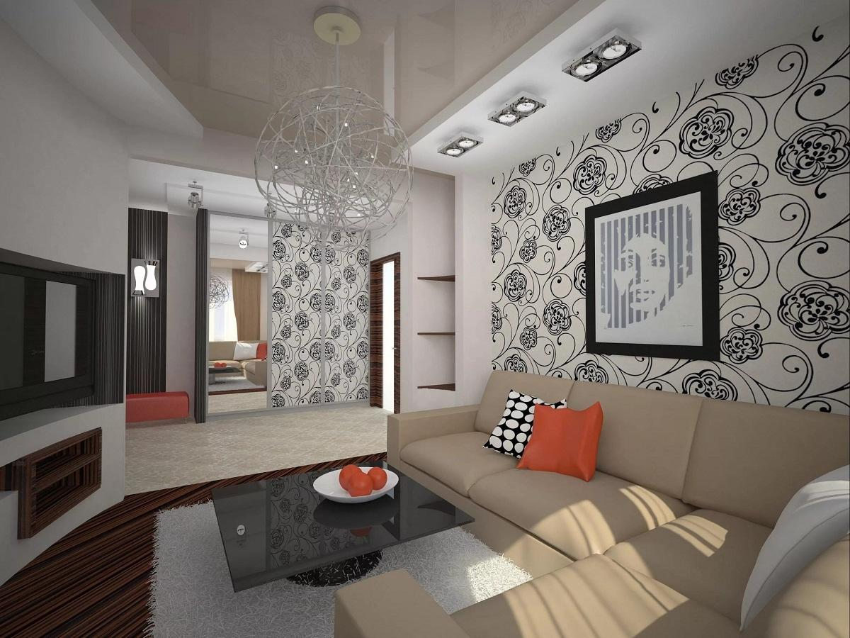 Дизайн зала в квартире: оригинальный интерьер для